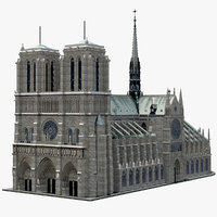 Notre Dame de Paris Low Poly