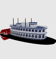 3d model of paddle steam steamer