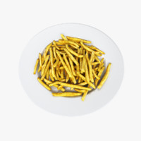 3d model french fries plate