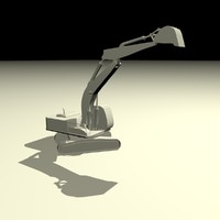 excavator animation 3ds