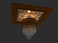 3d model celing light