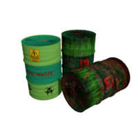 Toxic Waste Barrels Type 6