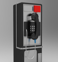 3d model of public pay phone
