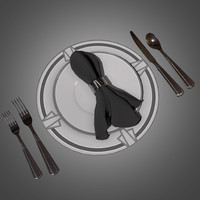3d deco dinnerware set