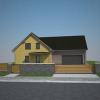 family house exterior 3d model
