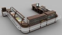 3d restaurant bain-marie model