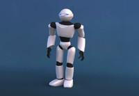 biped robot 3d model