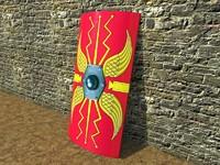 3d model roman shield