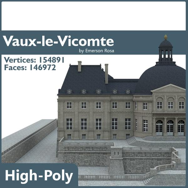 3d chateau vaux vicomte