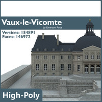 chateau vaux vicomte 3d model