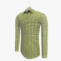 3d model stripe green shirt hanger