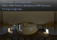 WORLD WAR TWO BUNKER INTERIOR - 2 360 HDR PANORAMA #162