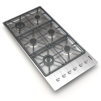 3d model miele 6-burner km