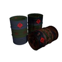 3d barrels rusty model