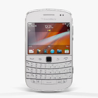 low-poly blackberry 9900 pure max