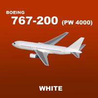 max pw boeing 767-200 white