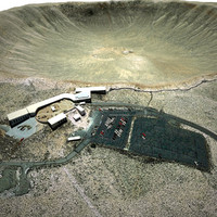 arizona meteor crater 3d model