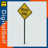 dead end sign obj