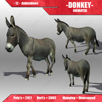 3d donkey animations