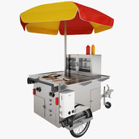 hot dog cart 3d max