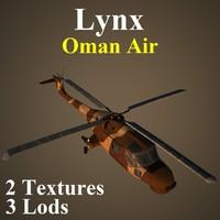 3d agustawestland lynx oma helicopter