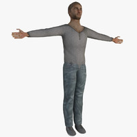 3ds max young human male