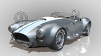 3d model shelby cobra ac 427