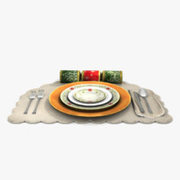 3d place setting