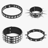 3d model punk bracelet