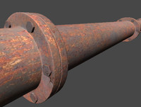 3d rusty conduit model