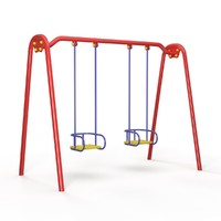 3d swing children playground model
