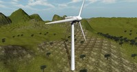 wind turbine 3d obj
