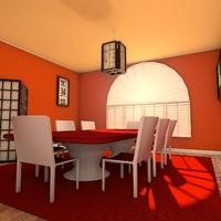 cinema4d designs zen dining room