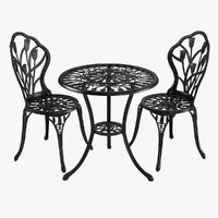 Iron Dining Table & Chair Set