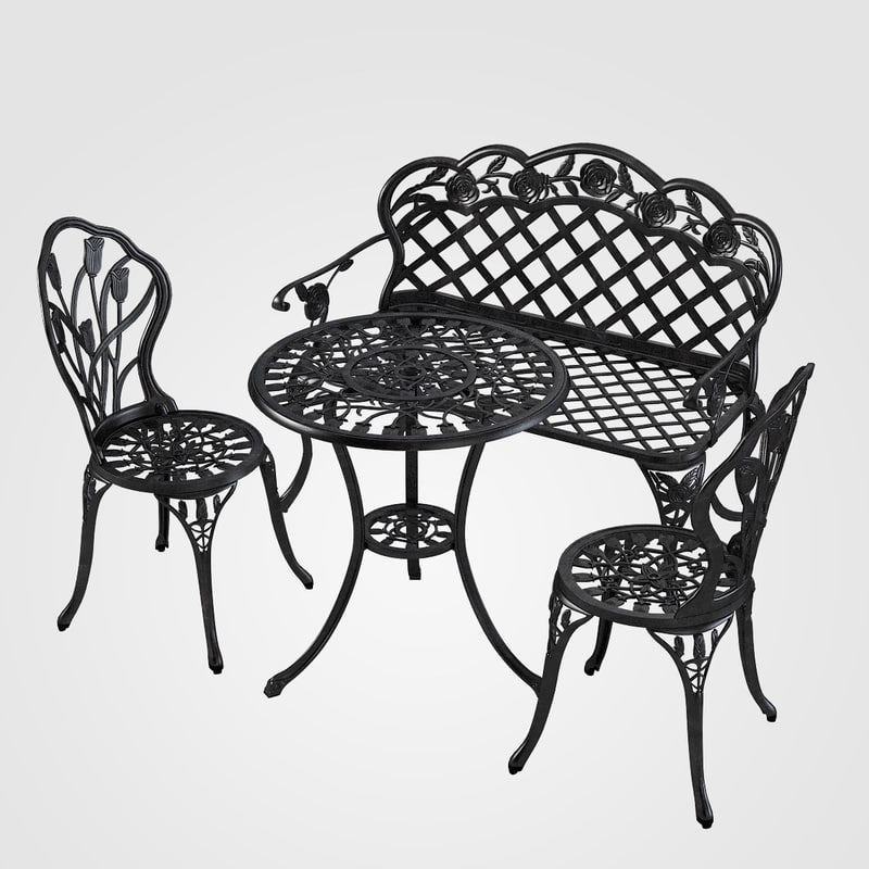 b Iron Garden Furniture Set bench entrance street outdoor iron public area seat seating sofa forged  carved s0001.jpg