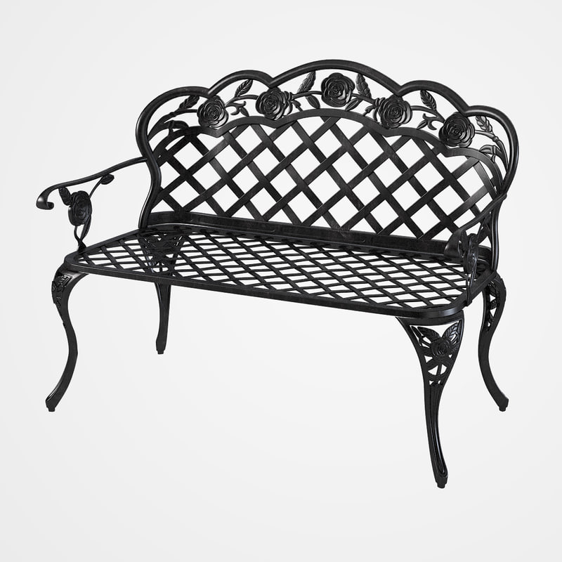b bench entrance street outdoor iron public area seat seating sofa forged  carved s0004.jpg