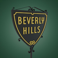3ds max beverly hills sign