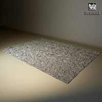 carpet modern 3d 3ds