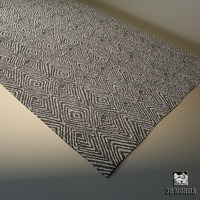 carpet modern 3d obj