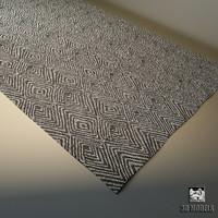 carpet modern 3d obj