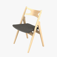 3d hans wegner ch29 chair model