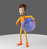 rigged animation character 3d ma