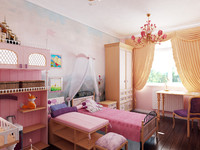 interior girl's bedroom