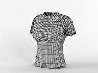 3d model of t-shirt base female