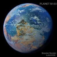 3d planet m-03 m model