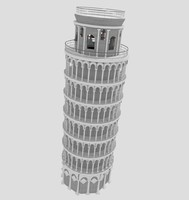 3d pisa tower model
