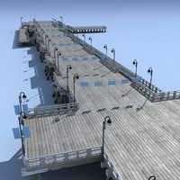 Pier Bridge Low Poly 3d Model