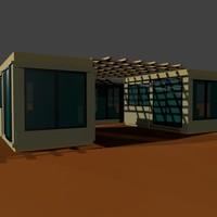 3d model tiny house units
