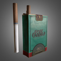 cigarette box 3d fbx