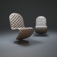 verner-panton chair-lounge 3d max